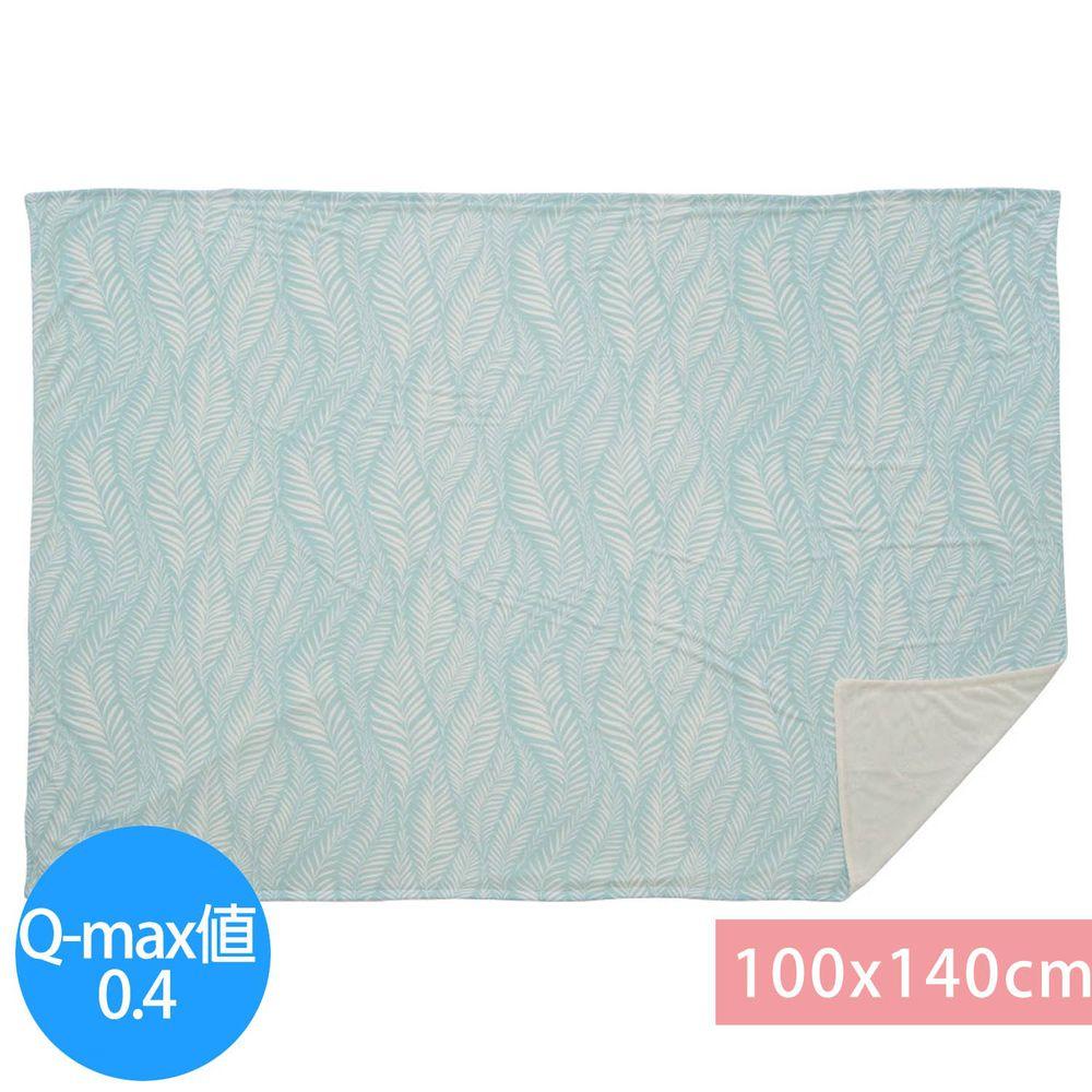 日本小泉 - 節電對策冷感薄毯-搖曳水草-薄荷 (100x140cm)