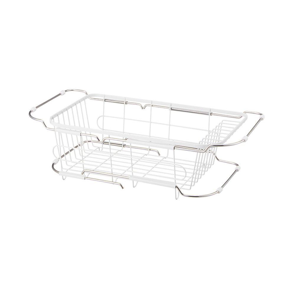 日本天馬 - 廚房系列寬型伸縮式碗盤瀝水籃