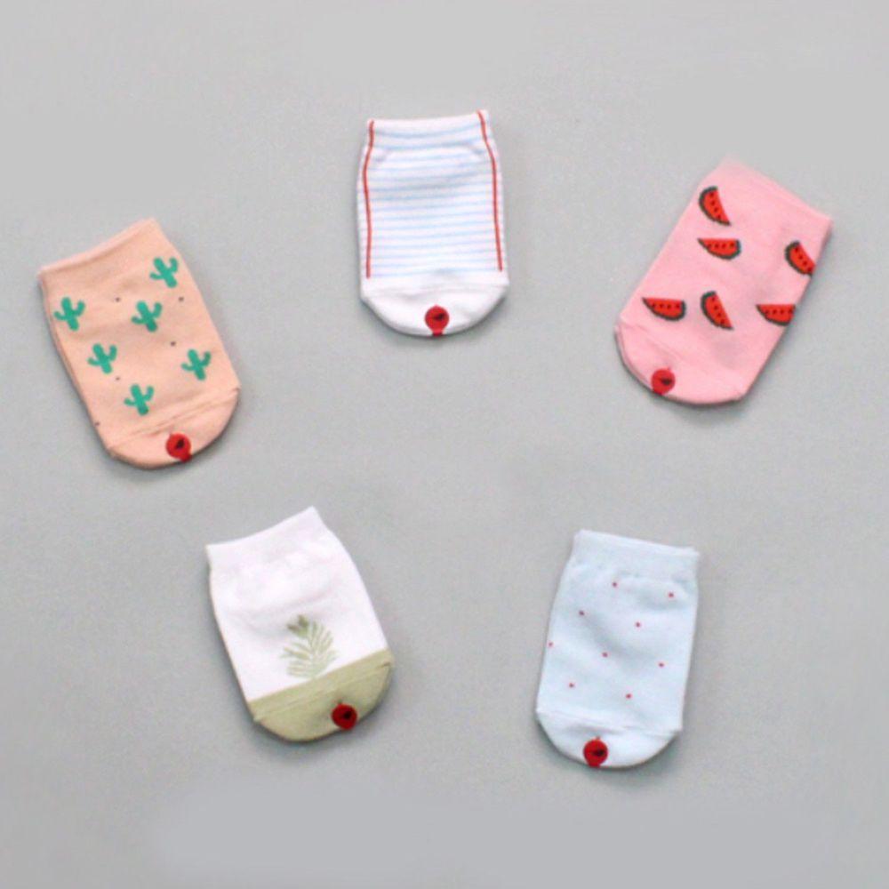 韓國 Kokacharm - 韓國製船型襪-五件組-Lush
