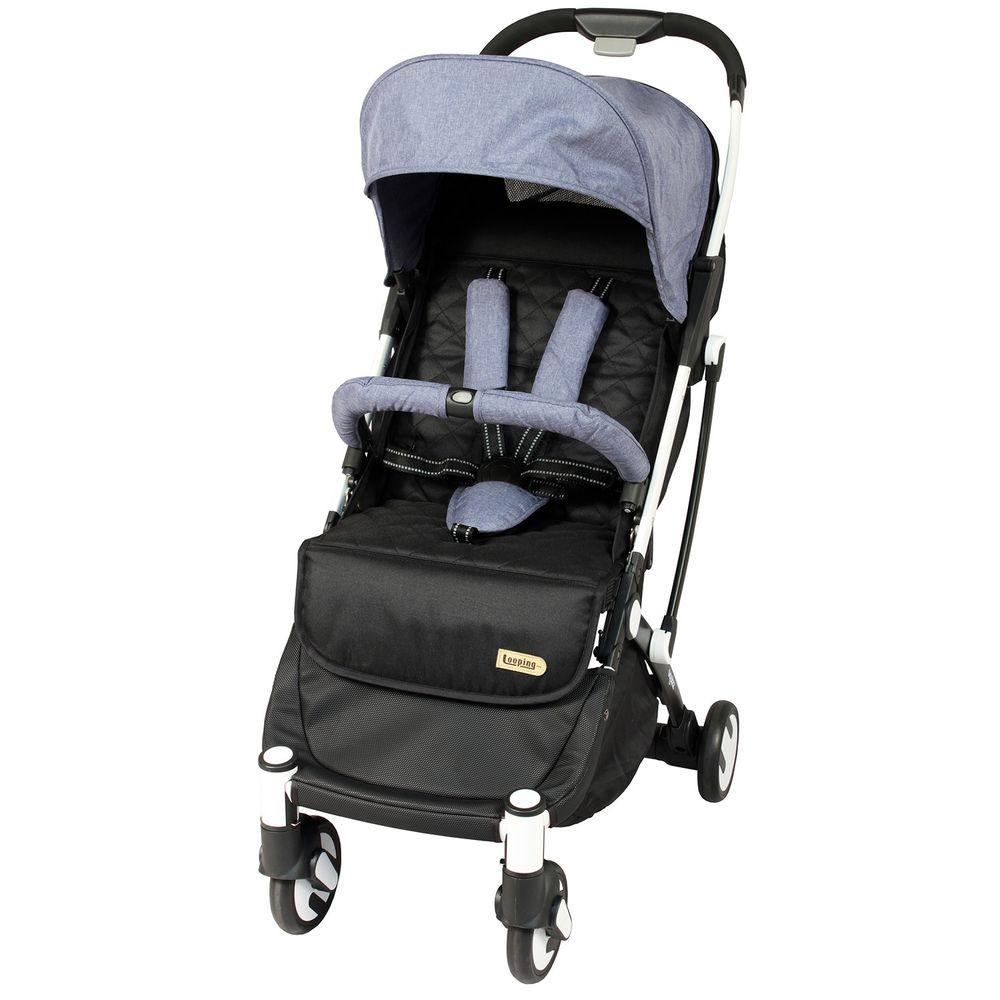 法國 Looping - Squizz III-輕巧行李式嬰幼兒手推車-白管-煙波藍-買送Looping Squizz III 專屬推車雨罩 x 1 + 專屬推車收納袋 x 1 + 專屬推車置物袋 x 1