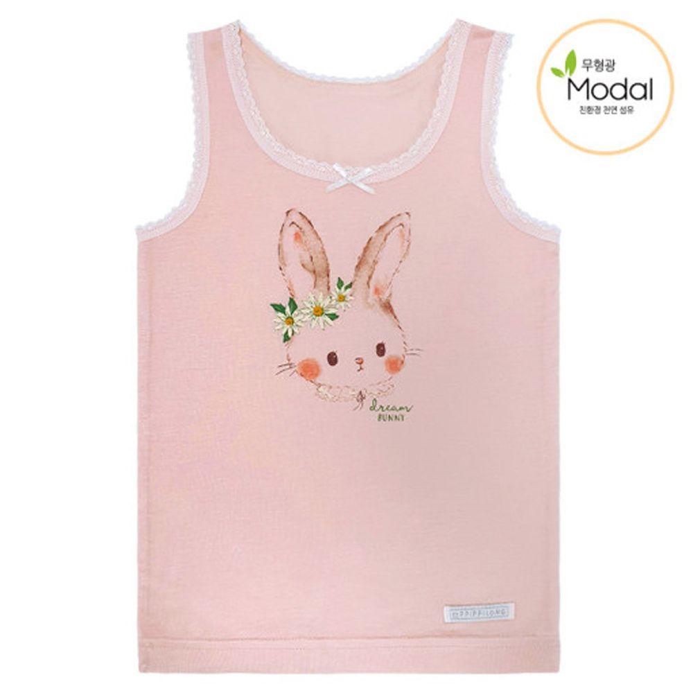 韓國 Ppippilong - 天絲莫代爾內衣(女寶)-粉紅花兔