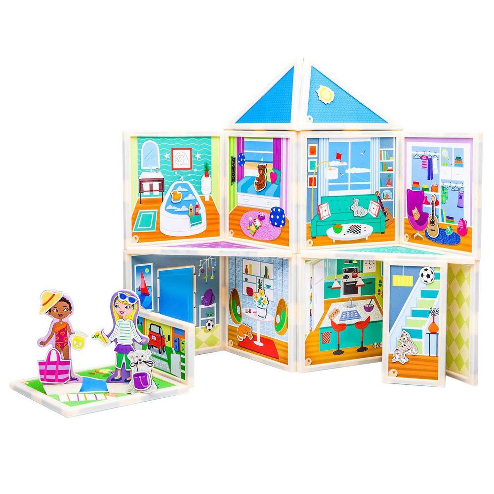 美國 Build & Imagine - 百變娃娃屋-豪華別墅-61pcs