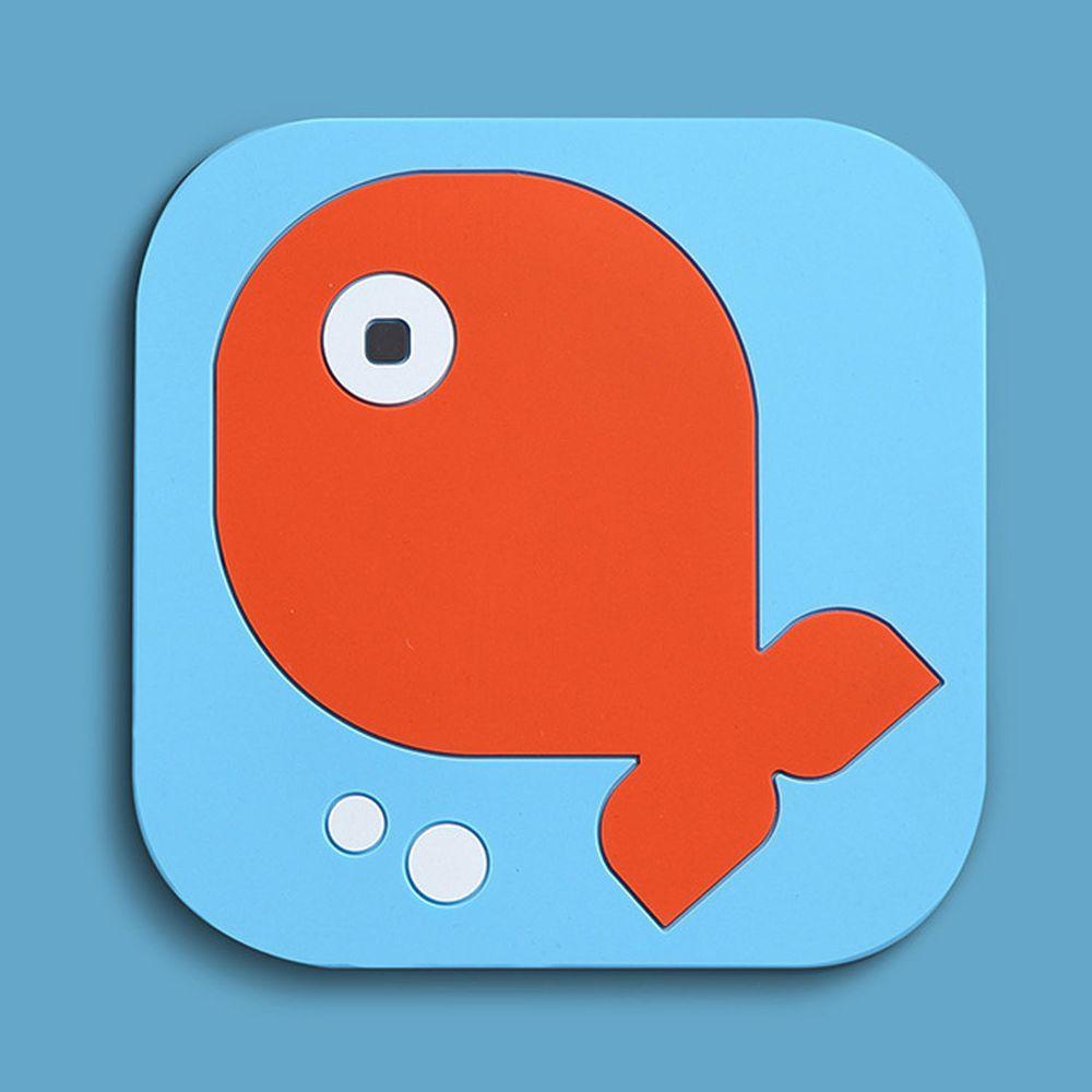 北歐矽膠方形隔熱墊-小魚