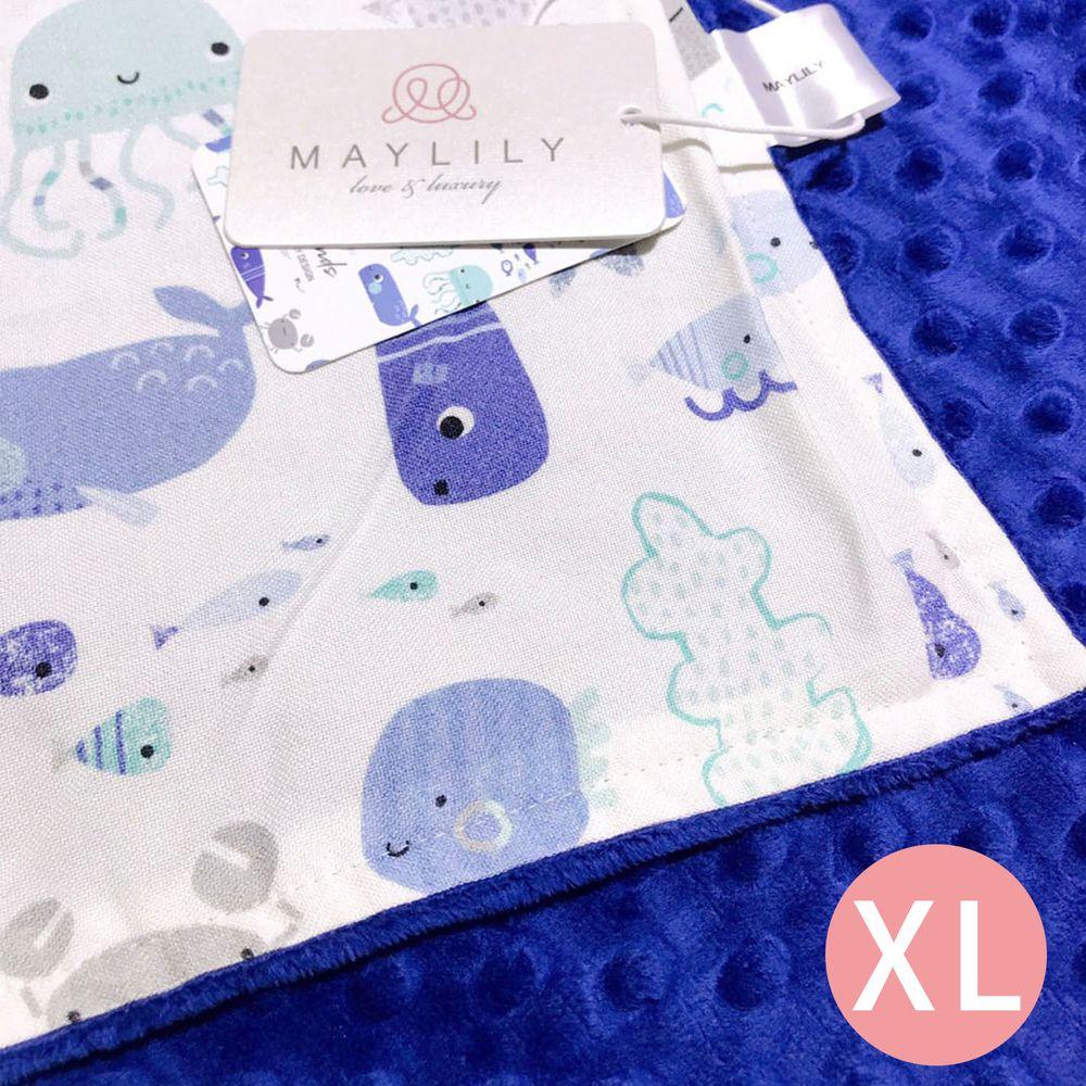 maylily - 竹纖維魔術顆粒輕柔毯(薄,無內胎)-海洋朋友們 (XL)-150x110cm