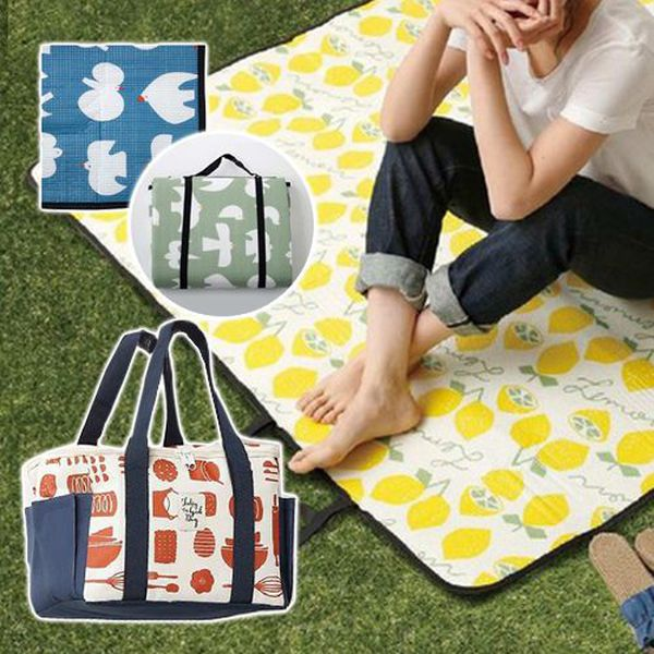 ✿ CP值爆棚!日本平價質感野餐墊&保冷袋~ ✿