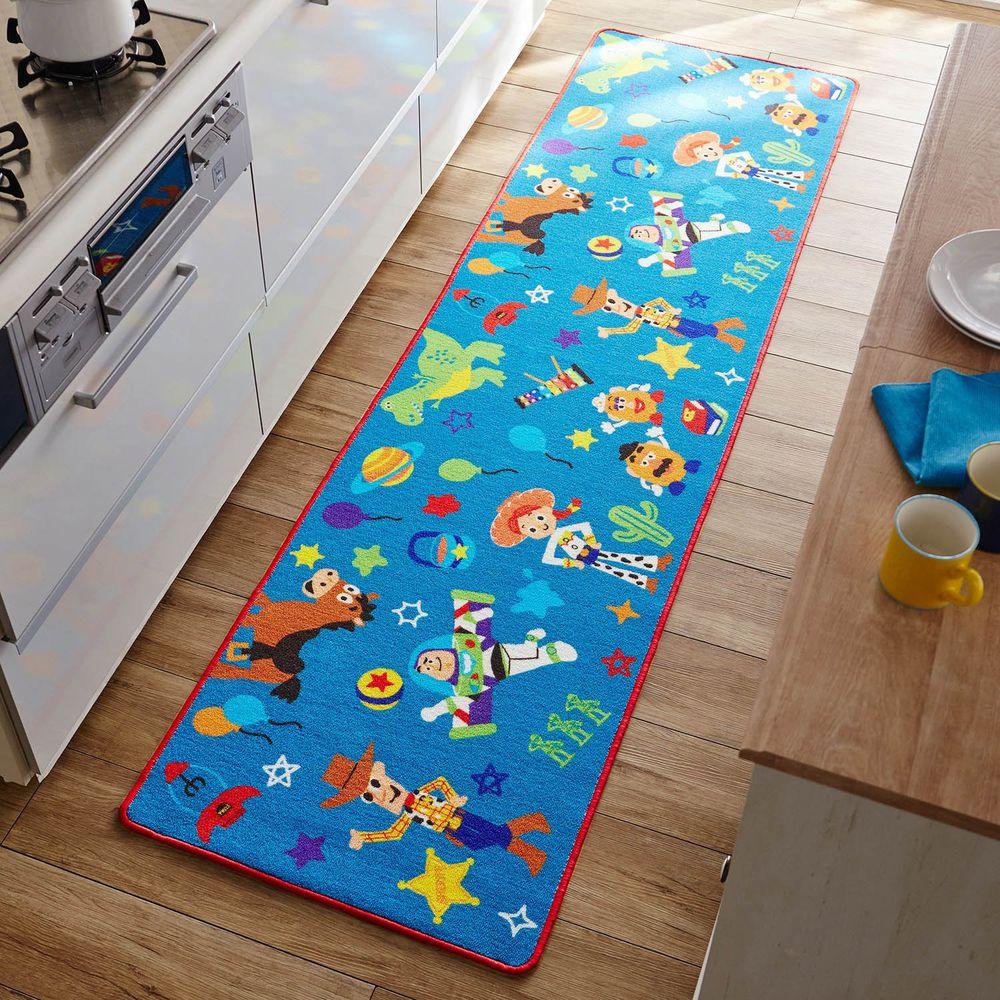 日本千趣會 - 迪士尼 長條型腳踏墊(廚房/臥室)-玩具總動員