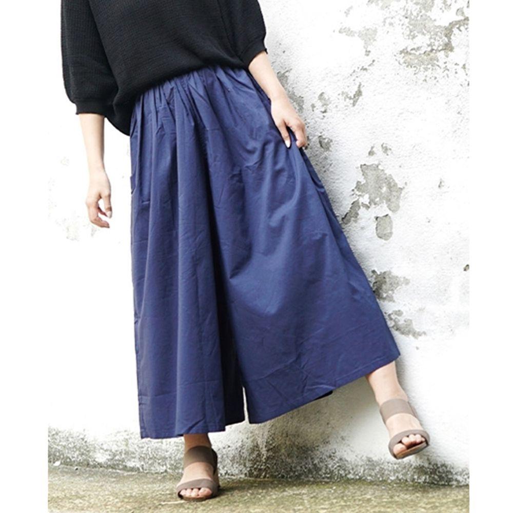 日本 zootie - 100%印度棉舒適寬褲-海軍藍 (Free)