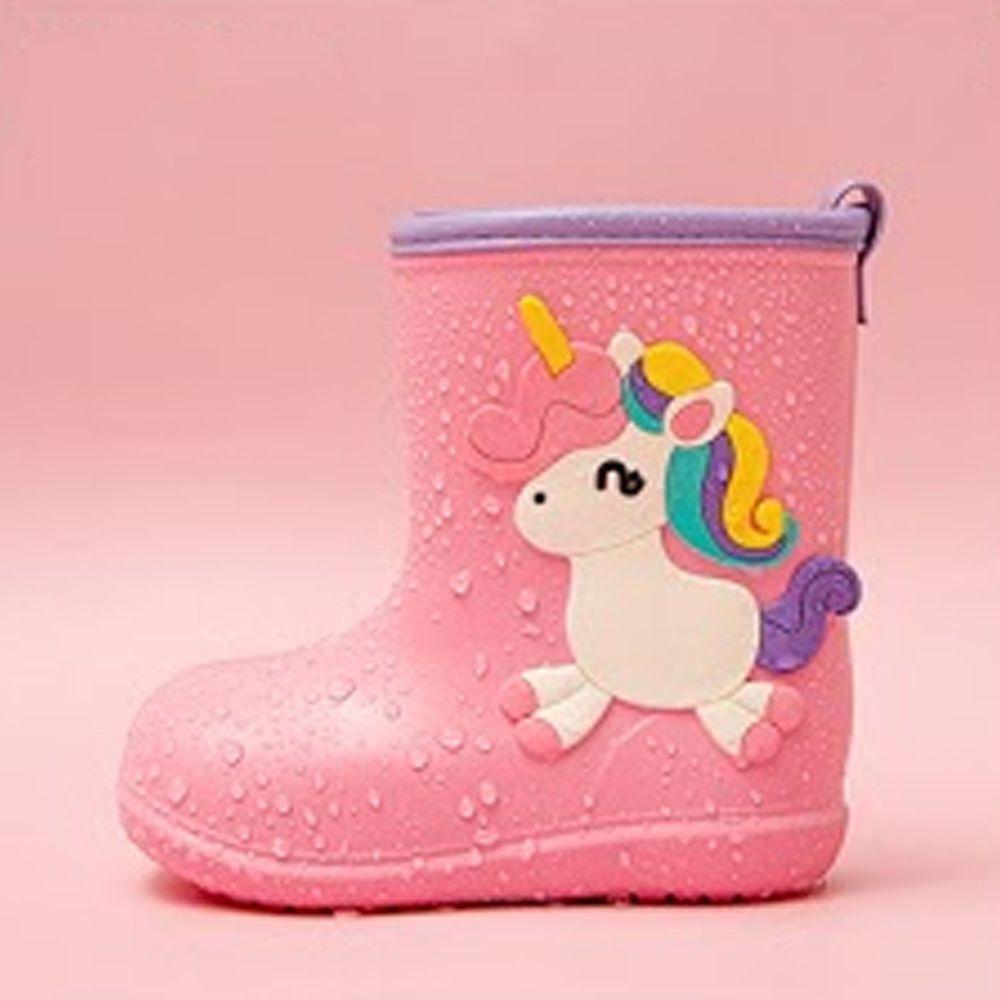 Cheerful Mario - 兒童雨鞋-粉色小馬