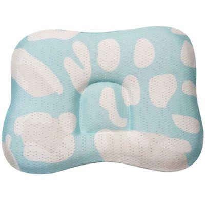 透氣嬰兒定型枕 0~18個月-中間為方形-薄荷綠 (23 x 33 x 3cm)
