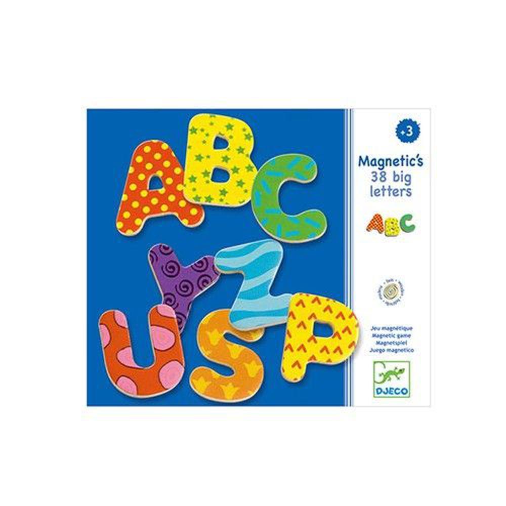 法國 DJECO 智荷 - 磁鐵拼圖-英文字母 (38片)-3歲起