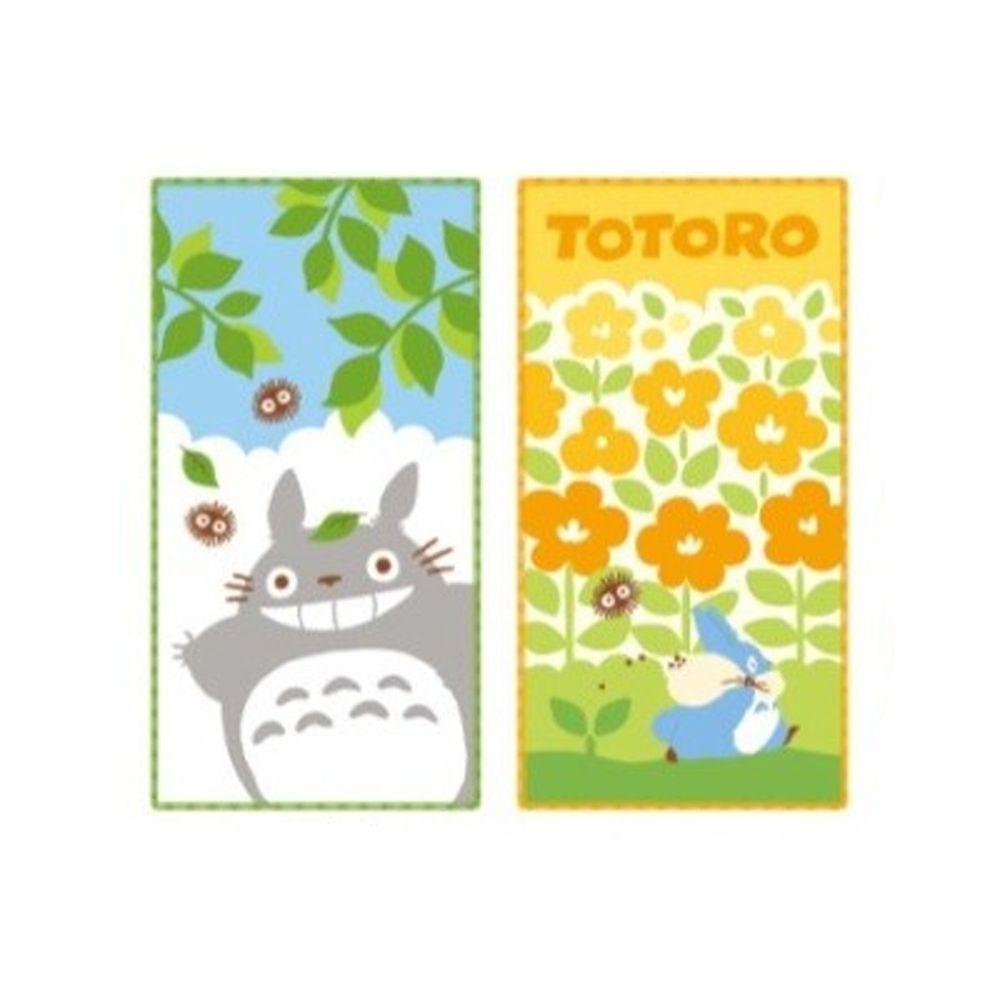 日本代購 - 長方形小手帕/毛巾兩入組-龍貓花園 (10×20cm)