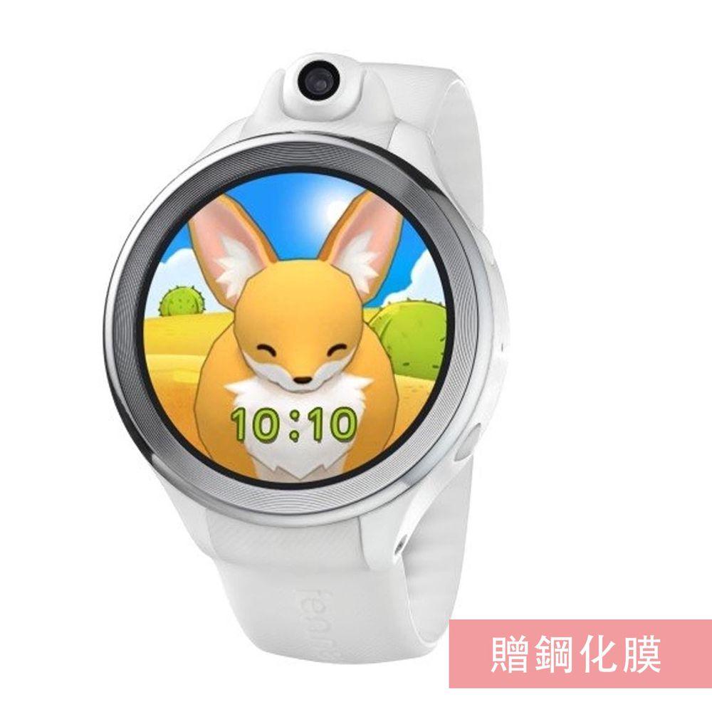 FENNEC - 小狐狸兒童智慧手錶加贈鋼化膜組合-派對白