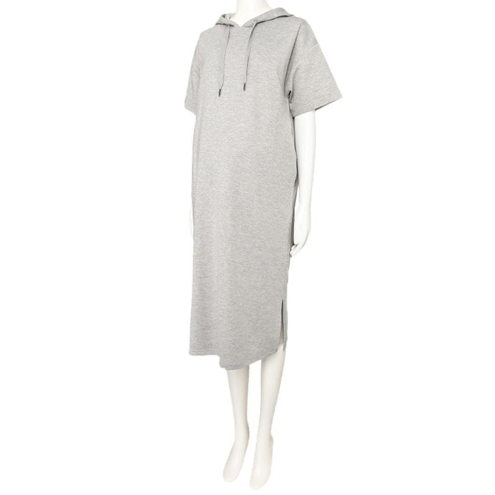 akachan honpo - 短袖連帽洋裝-灰色