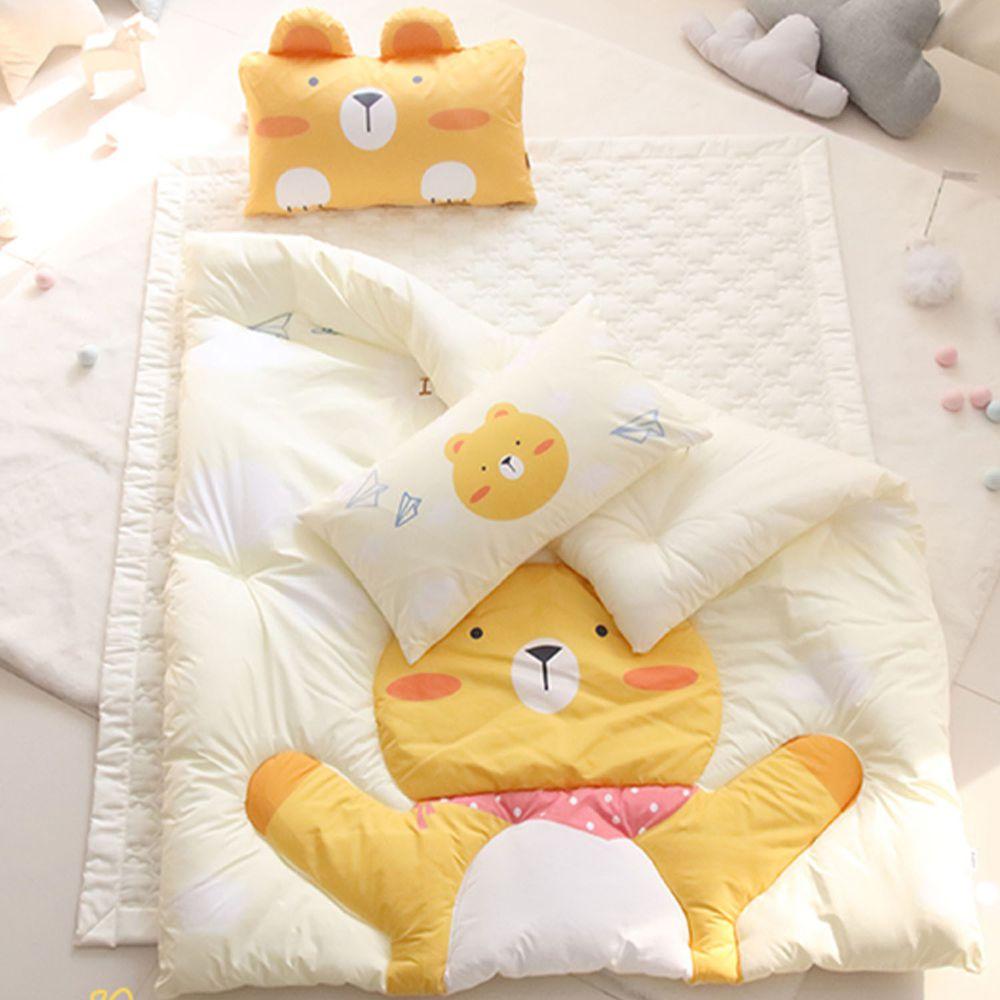 韓國 Teepee - 四季用睡袋/寢具7件組(無拉鏈)(附收納袋)-帥氣小黃熊
