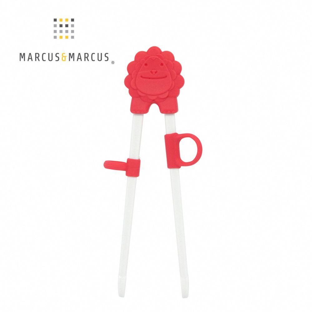 MARCUS&MARCUS - 動物樂園幼兒學習筷-紅獅子