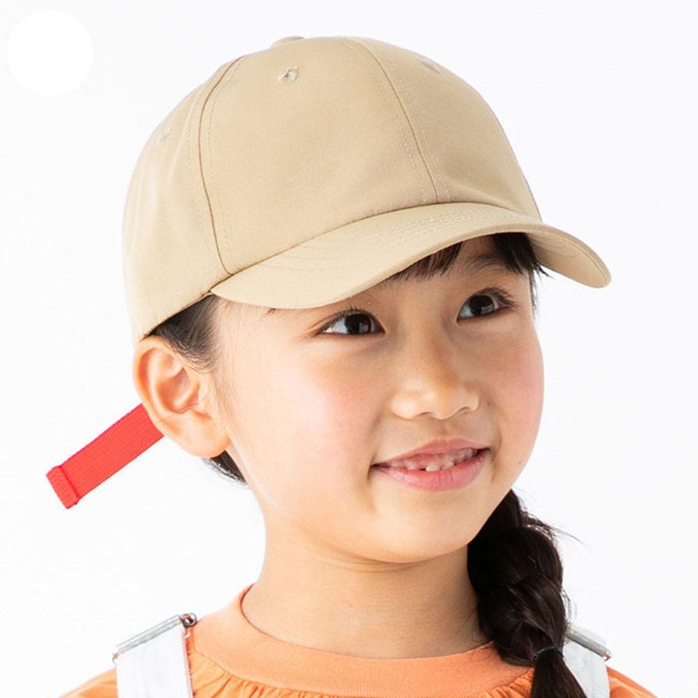 日本 irodori - 【irodori】防潑水撞色束帶棒球帽-兒童款-杏X紅 (54cm)