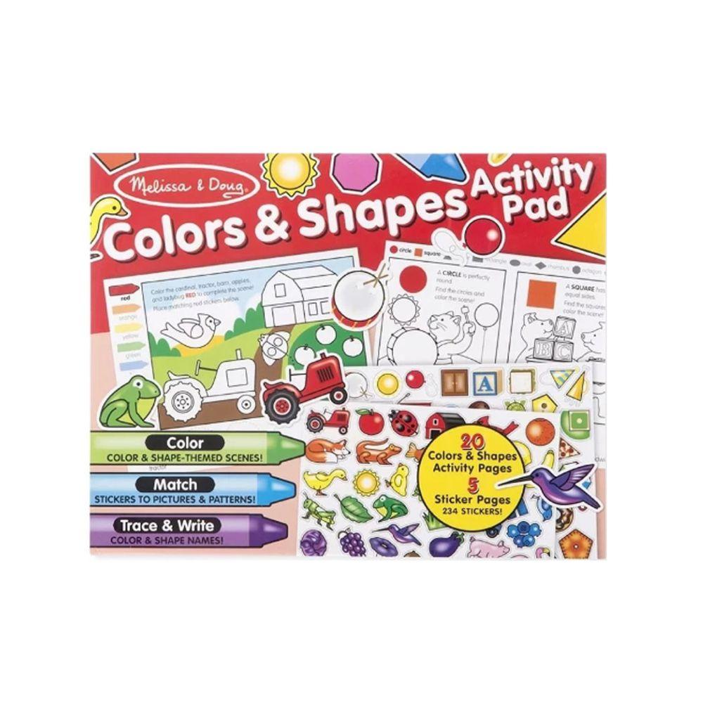 美國瑪莉莎 Melissa & Doug - MD 學習貼貼樂-學習顏色和形狀