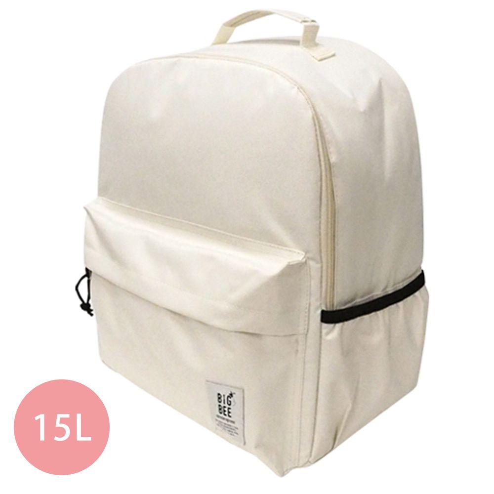 日本 Big Bee - 保冷機能大容量後背包-米白 (35x43cm)-15L