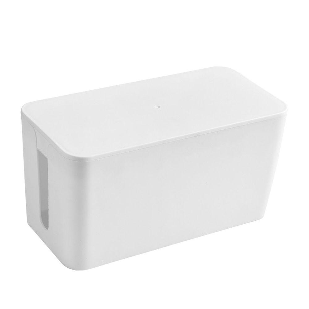 電源線收納整理盒-小號-白色 (23.5x11.5x12cm)