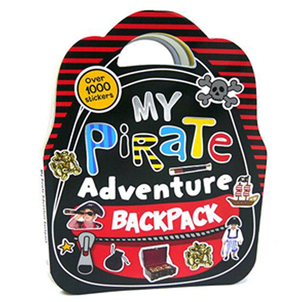 【福利品】1000張貼紙書-我的海盜冒險背包-平裝