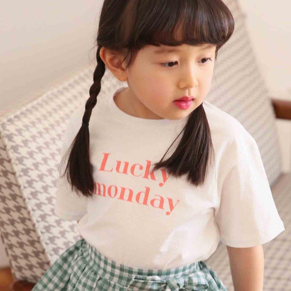 韓國 Babychou - 幸運T-白