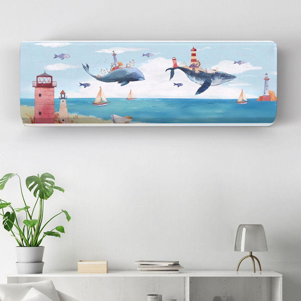 家用冷氣防塵罩-北海鯨魚