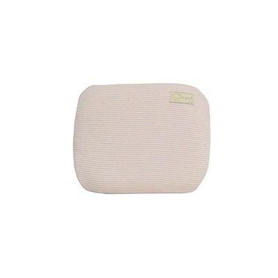 有機棉嬰兒護頭型乳膠枕-經典條紋系列-溫暖粉 (29x25x5cm)-3~4個月以內