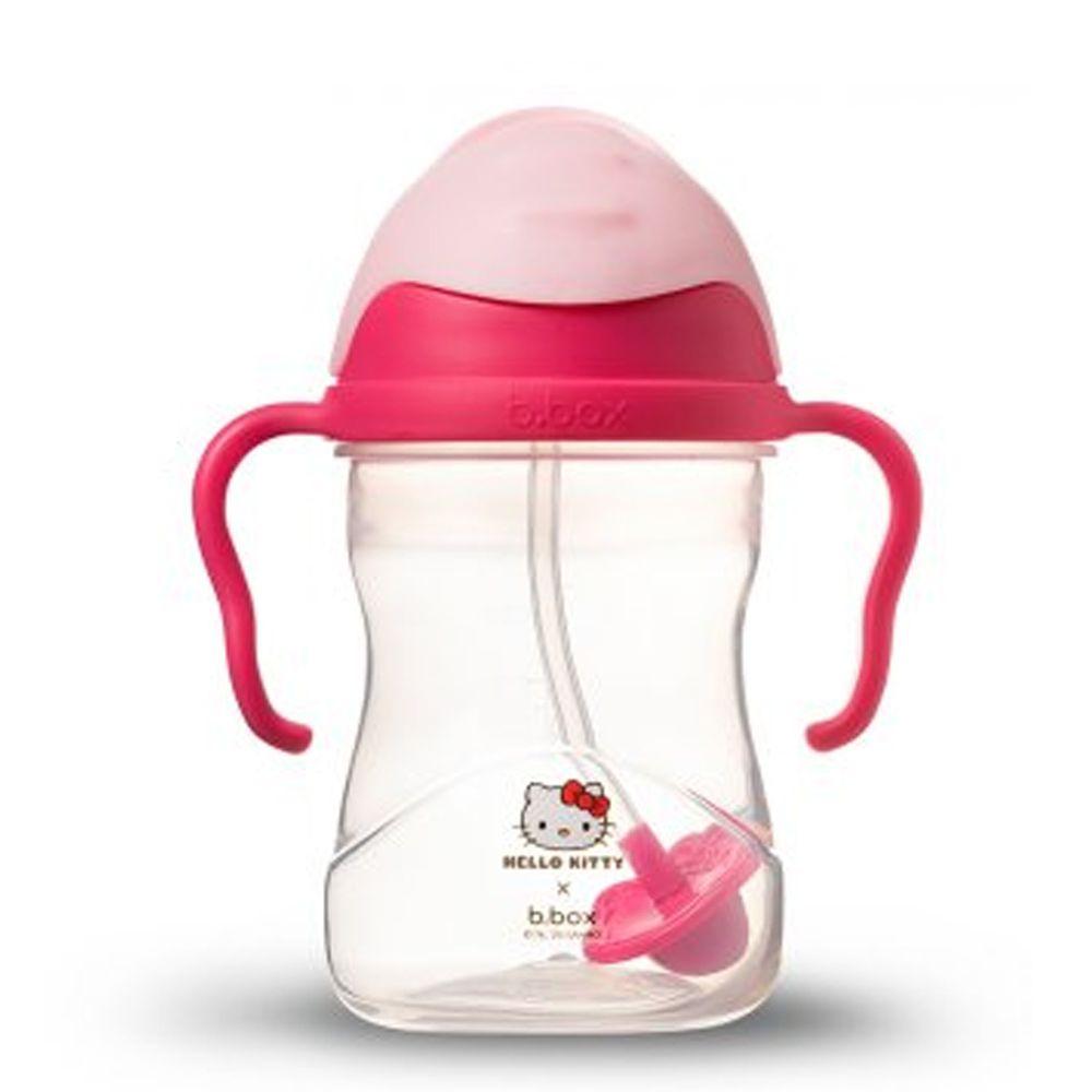 澳洲 b.box - 升級版防漏水杯-Kitty 桃紅