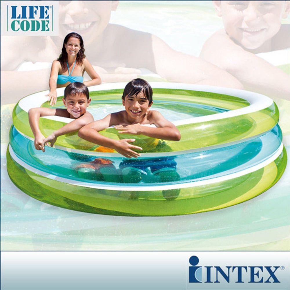 INTEX - 【限量促銷】圓型三層透明戲水游泳池(742L)
