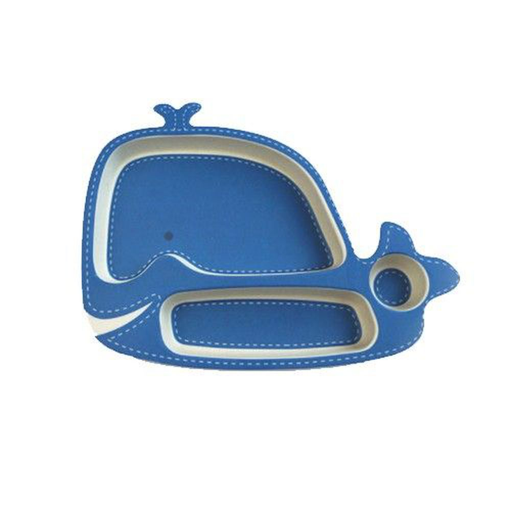 coeco - 竹纖維動物造型兒童餐盤-鯨魚