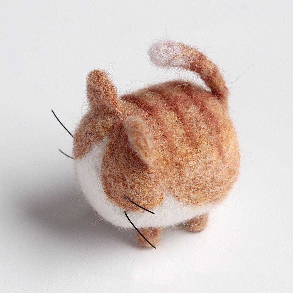 Diy寵物造型羊毛氈戳戳樂材料包-橘貓