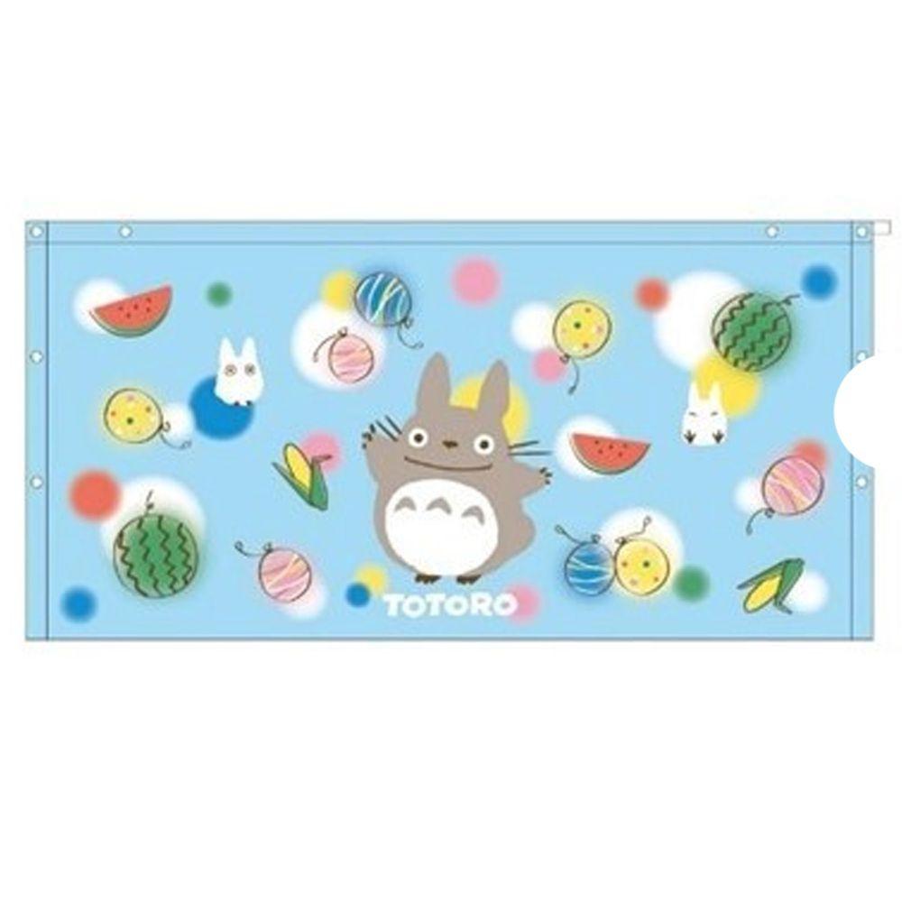日本服飾代購 - 純棉海灘/游泳浴巾/浴袍 (附釦)-龍貓過暑假-水藍 (長60cm(幼稚園~國小低年級))
