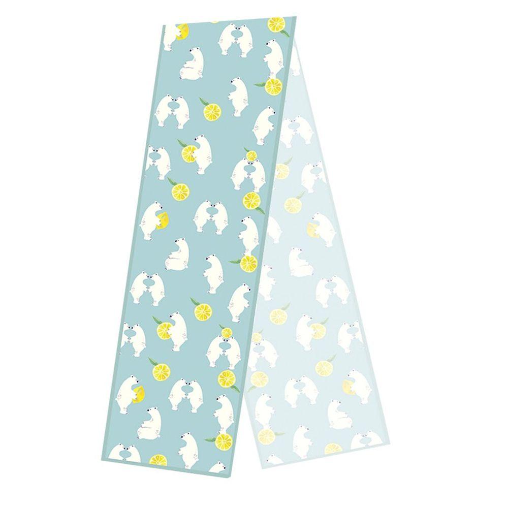日本弘雅堂 - 抗UV水涼感巾(清新香味)-北極熊檸檬-薄荷 (S(15x100cm))