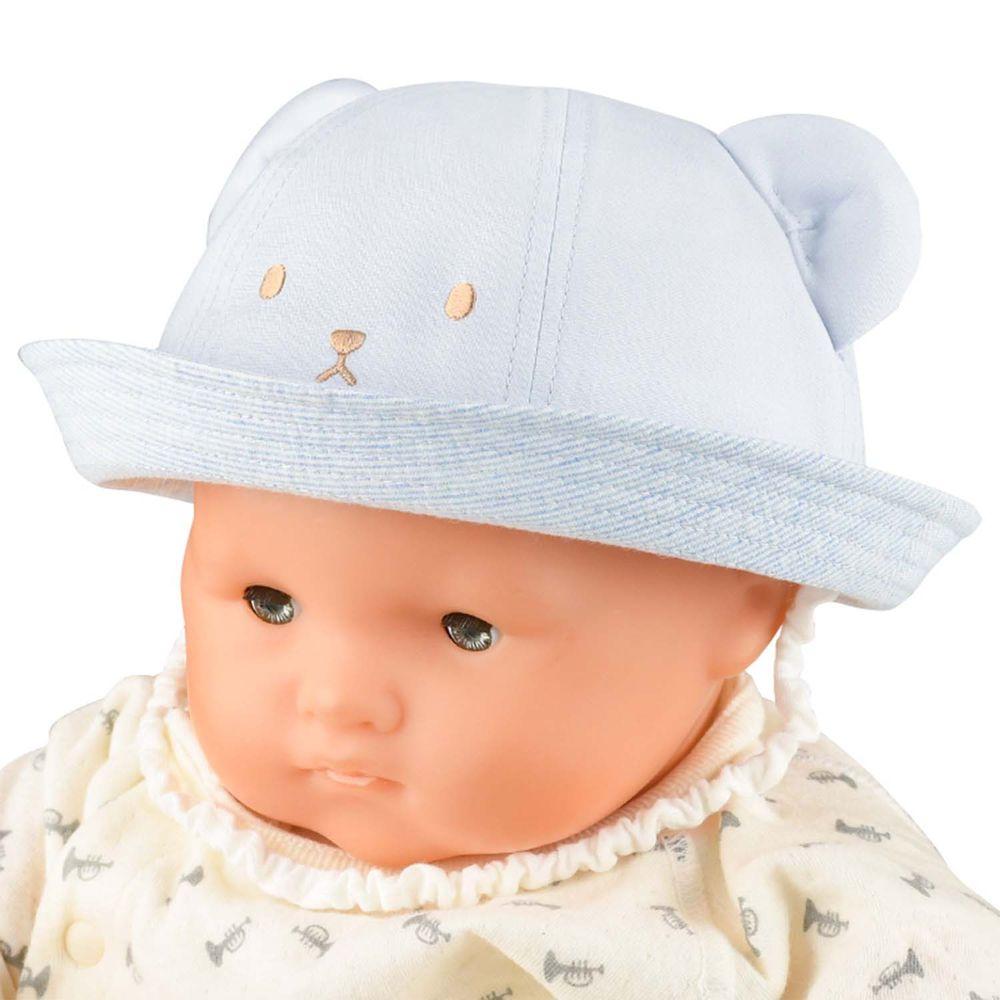 akachan honpo - 動物耳朵帽-淺藍色