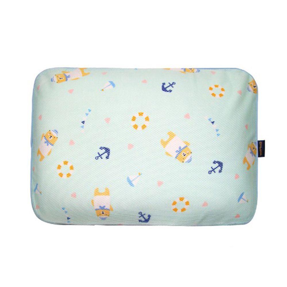 韓國 GIO Pillow - 超透氣防螨兒童枕頭-單枕套組-水手熊藍 (L號)-2歲以上適用