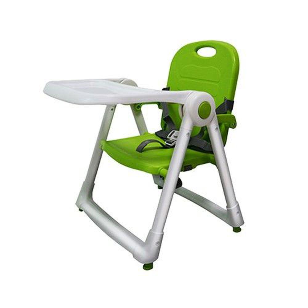 美國 ZOE - 可攜式折疊兒童餐椅-蘋果綠