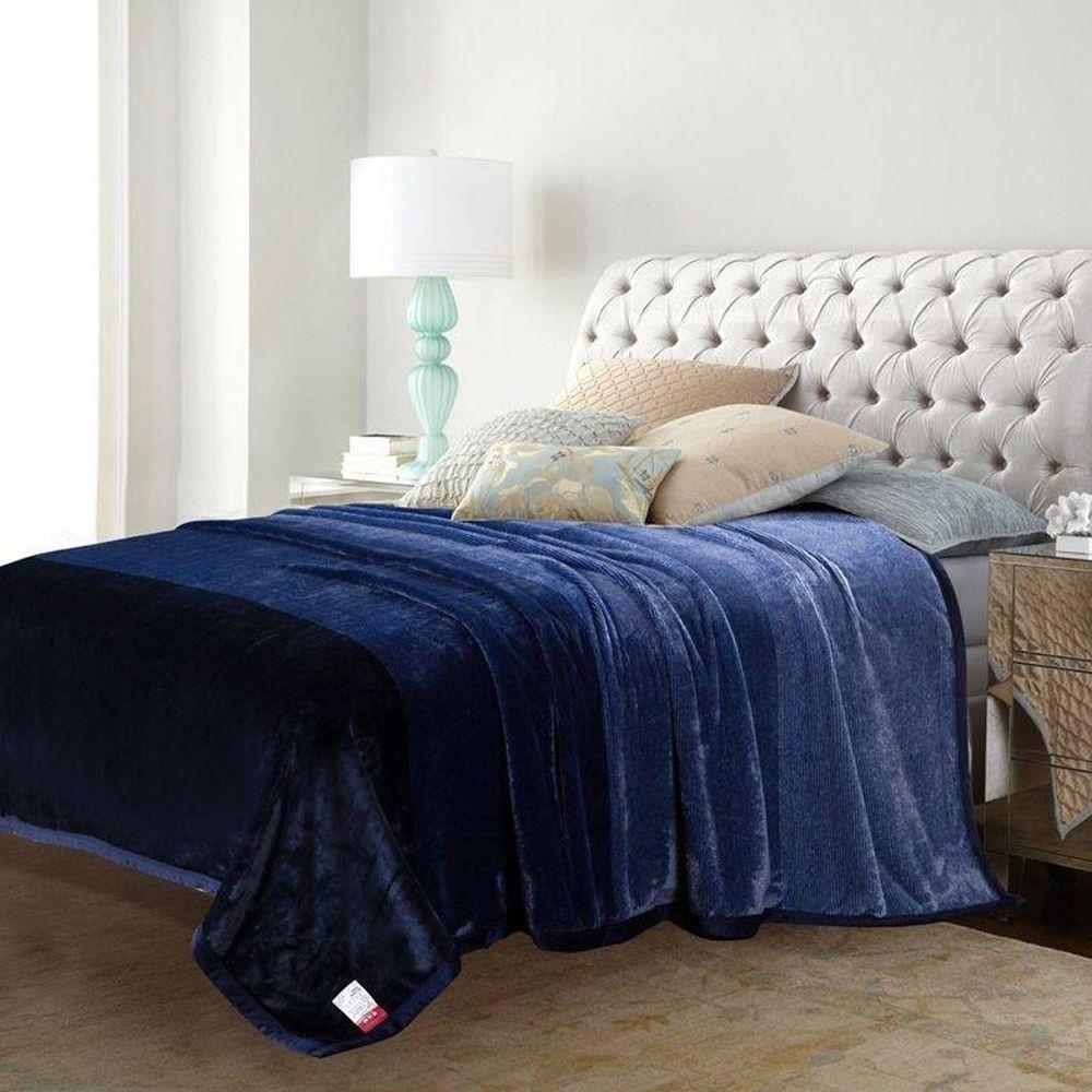 株式會社 - 韓國超細纖維居家毯-藍 (200*230公分)