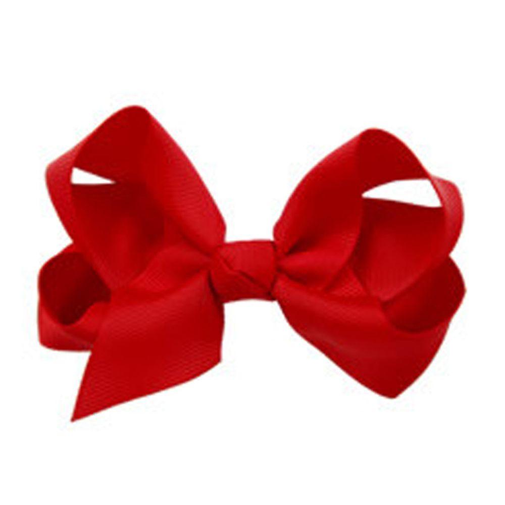日本 Maison de Ravi - 浪漫蝴蝶結髮夾-熱情紅(8-red) (大)
