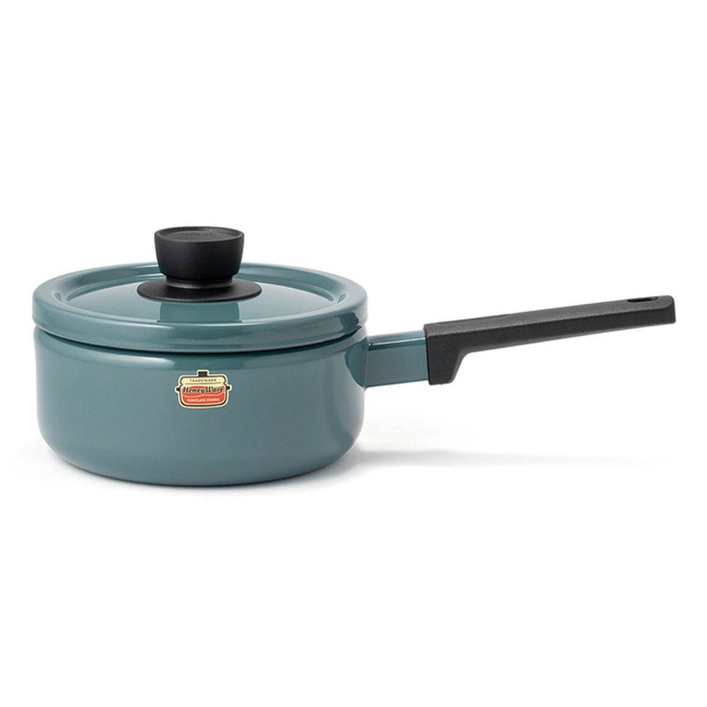 FUJIHORO 富士琺瑯 - Solid 經典系列-18cm單柄附蓋琺瑯調理鍋-煙霧藍-容量:2.2L 重量:1.25kg