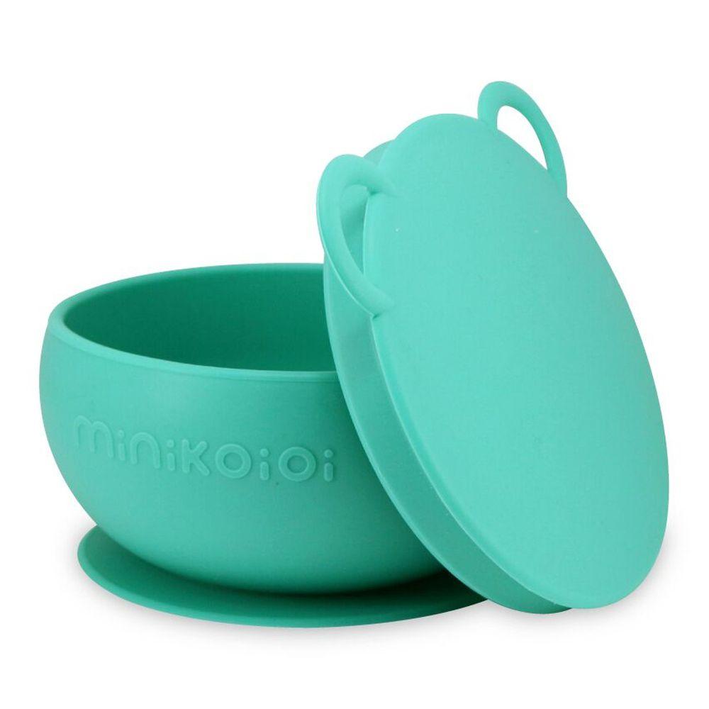 土耳其 minikoioi - 防滑矽膠吸盤碗-薄荷綠