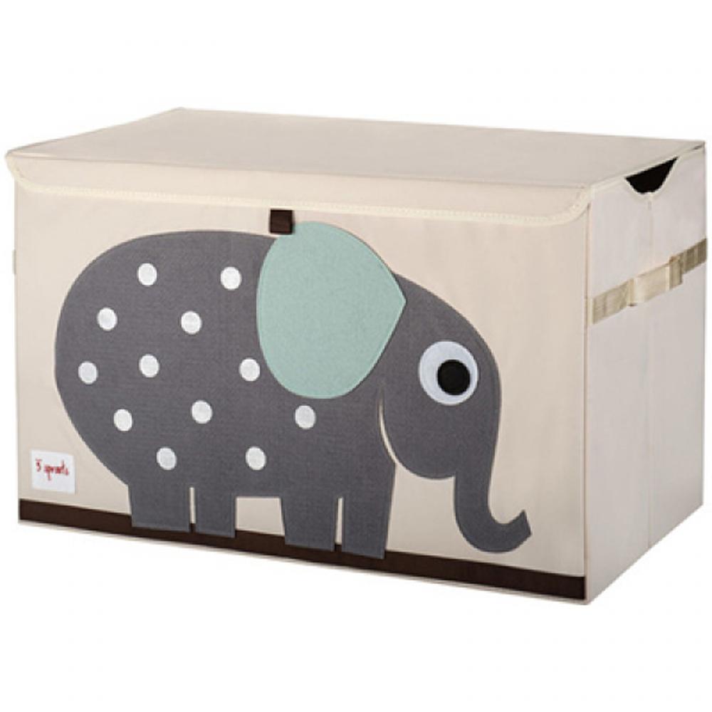 加拿大 3 Sprouts - 大型玩具收納箱-小象