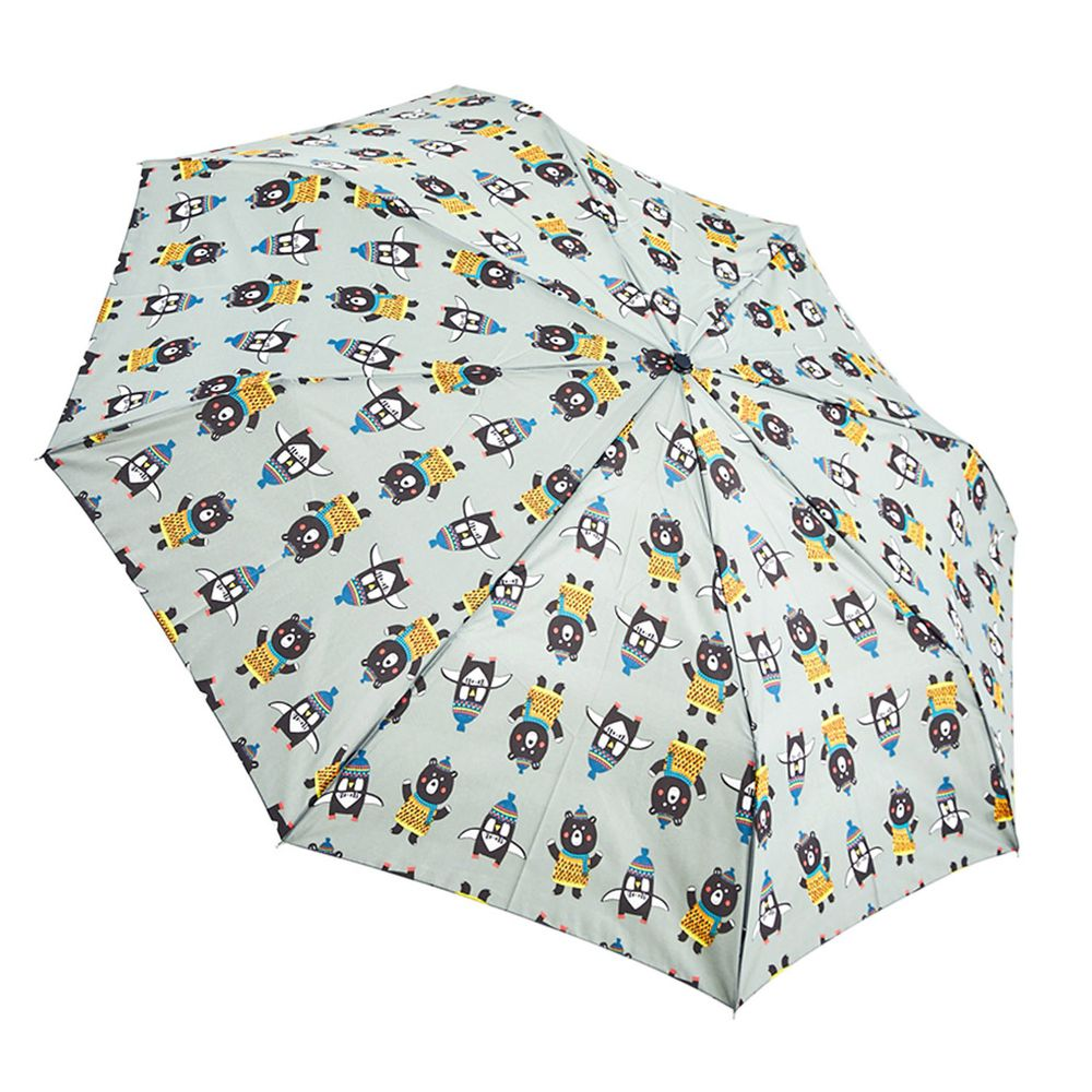 Rainstory - 抗UV雙人自動傘-熊與企鵝-自動開收傘