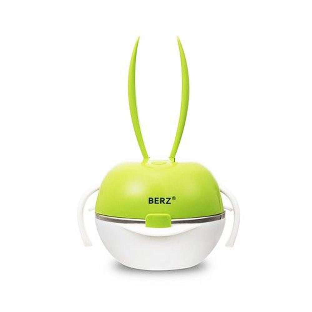 英國 BERZ - 彩虹兔寶寶五合一餐具組-蘋果綠色