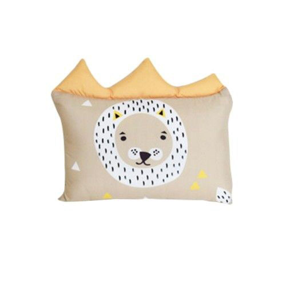 韓國 GGUMBI/DreamB - 透氣防蹣護頭型嬰兒枕-獅子