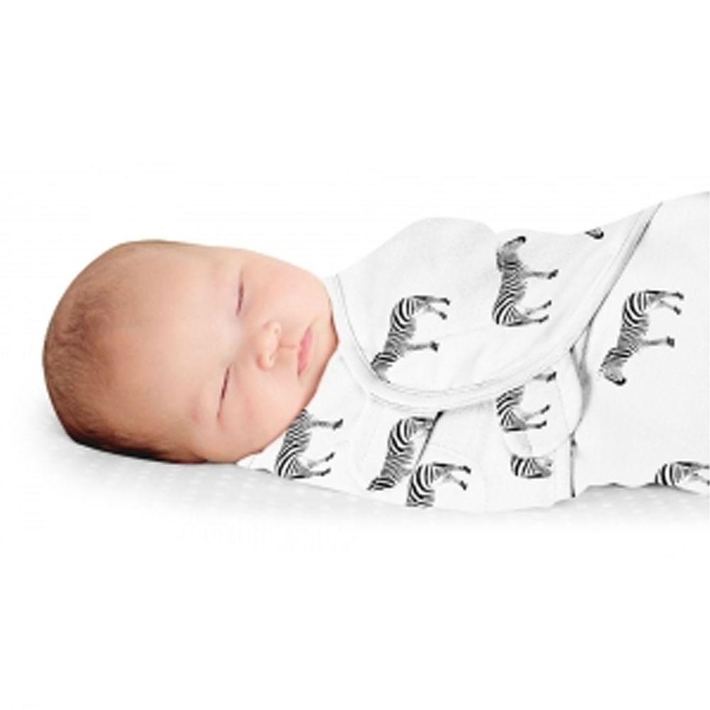 Summer Infant - 奢華舒眠安撫包巾-斑馬樂園-適用年齡:0~3個月