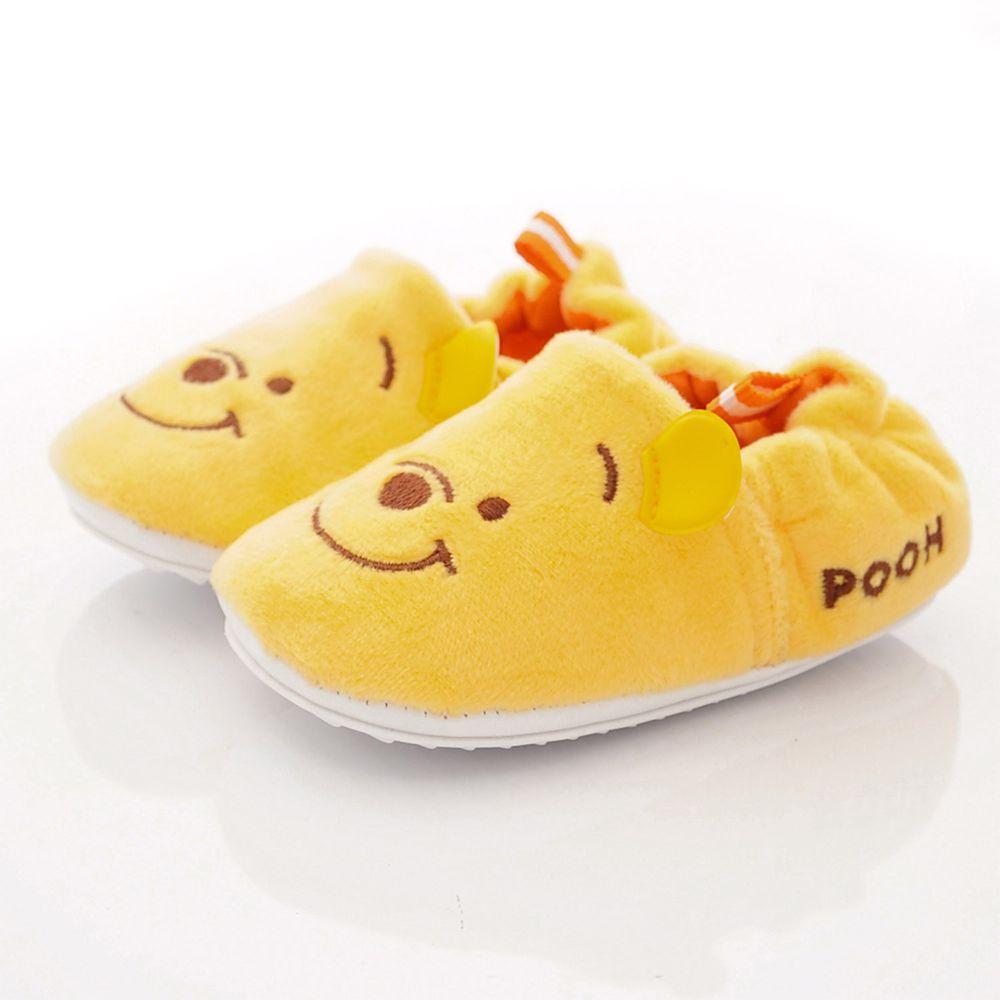 Disney - 迪士尼童鞋-維尼電繡絨毛學步鞋款 (寶寶段)-黃