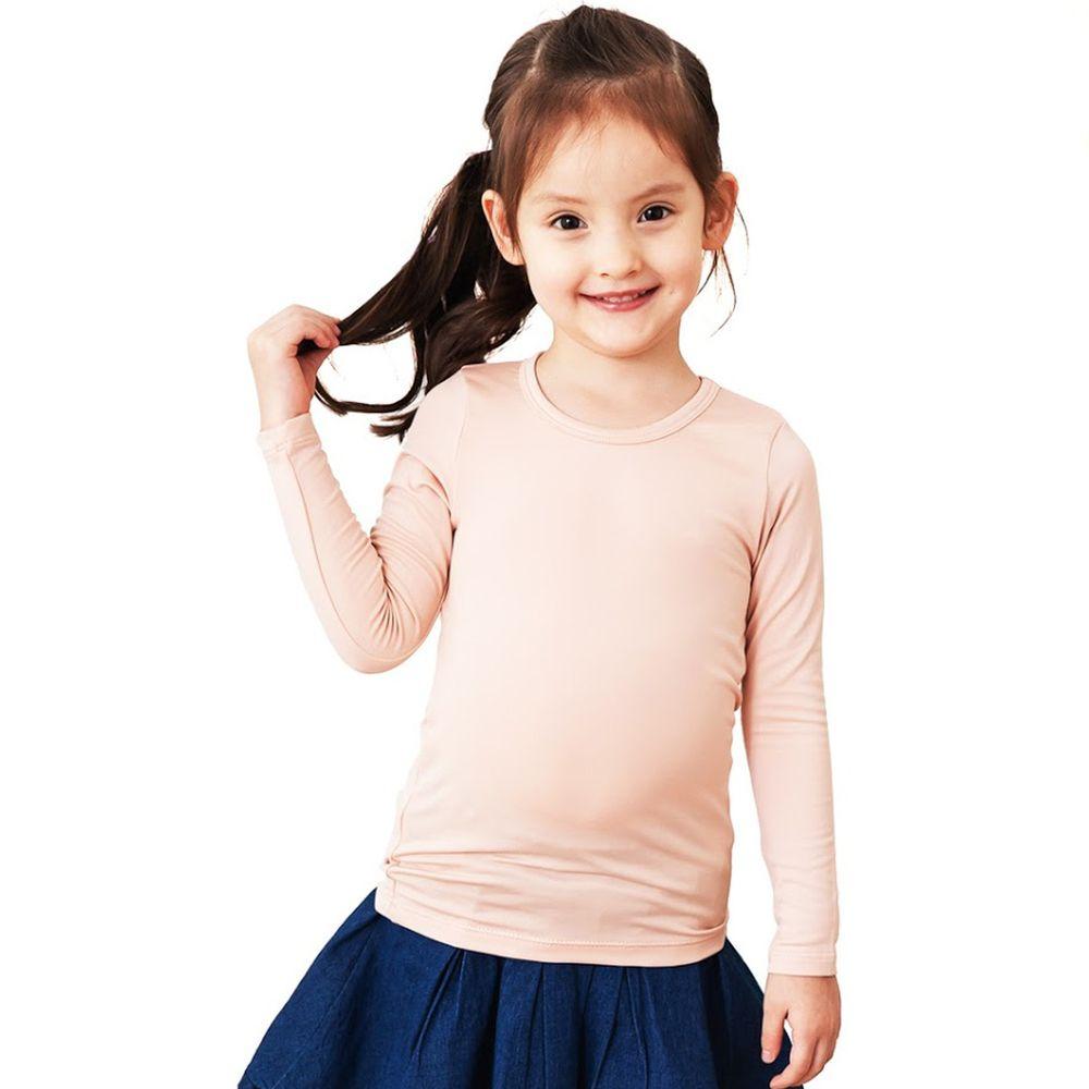 GIAT - 極暖昇溫5℃蓄熱刷毛衣(童款)-肉粉色
