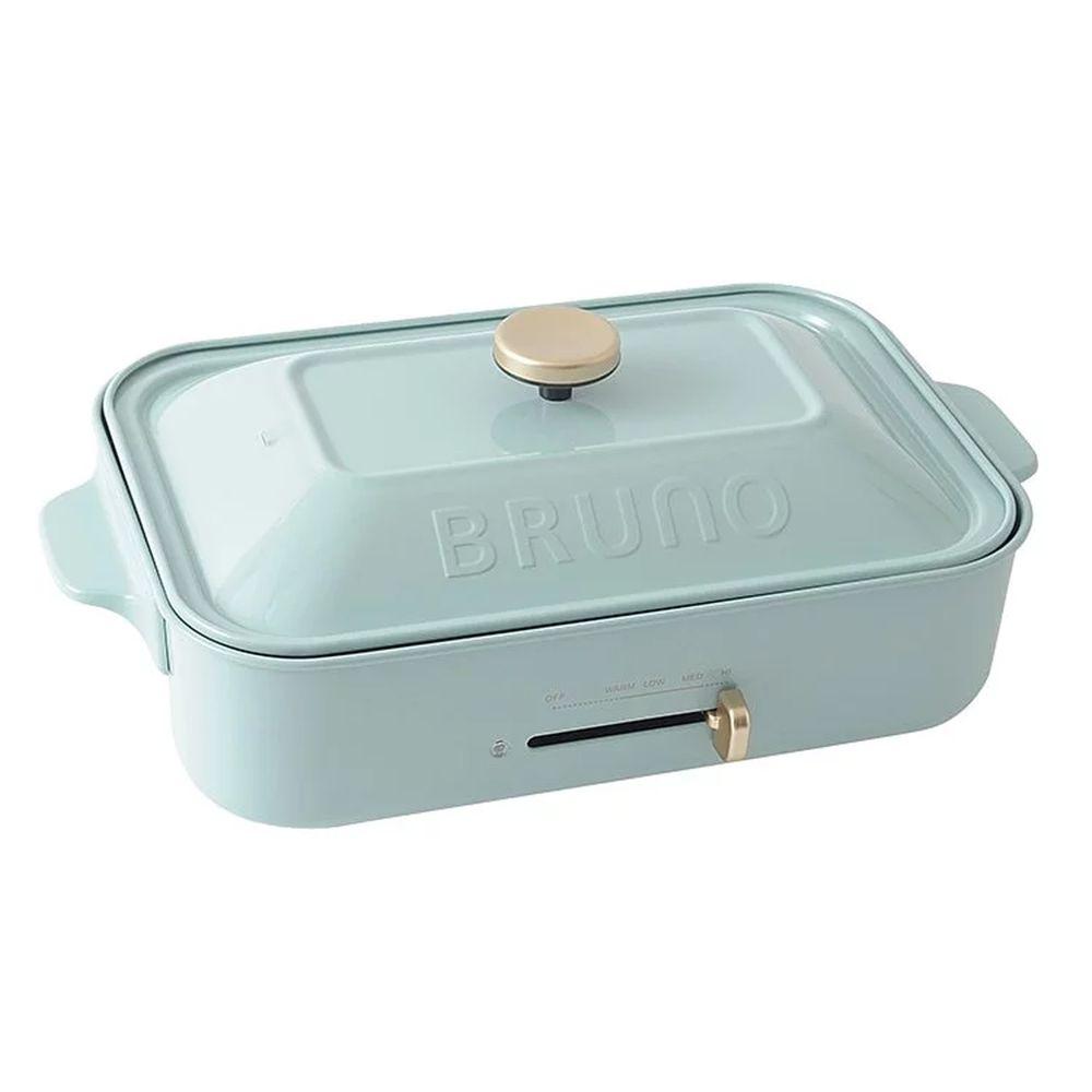 日本 BRUNO - 多功能電烤盤 BOE021 土耳其藍款 (內附平盤/章魚燒)
