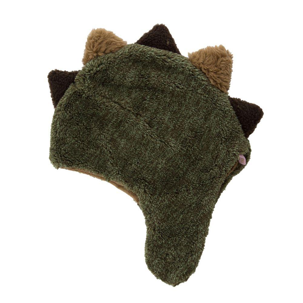 日本 BISQUE - 動物造型超柔軟保暖圍脖帽-恐龍-墨綠 (1.5-5歲)