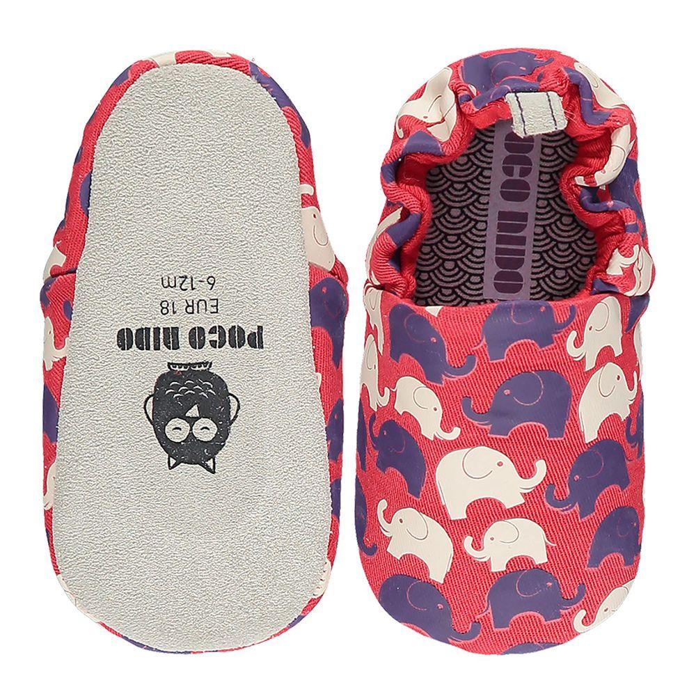 英國 POCO NIDO - 手工學步鞋-大象家族